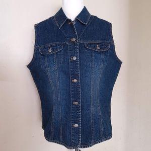 Black label Chico's denim Vest Size 2